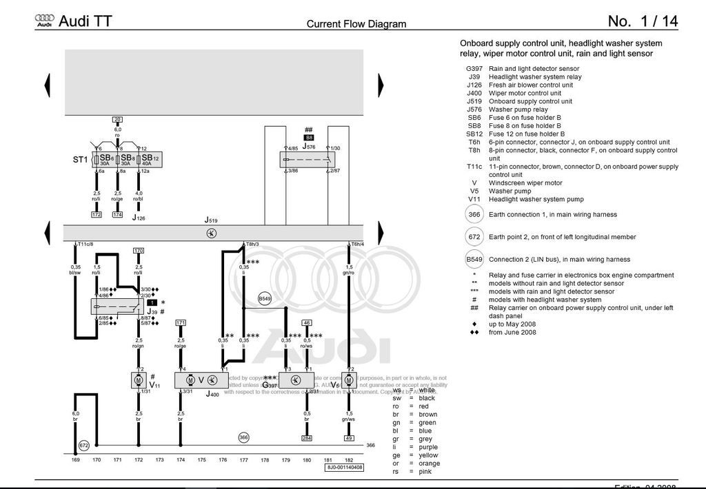 audi wiper motor wiring diagram  description wiring