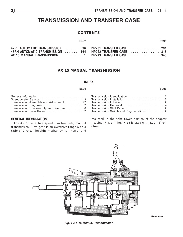 Dc 8540 42re Transmission Diagram 4 Wheel Drive Free Diagram