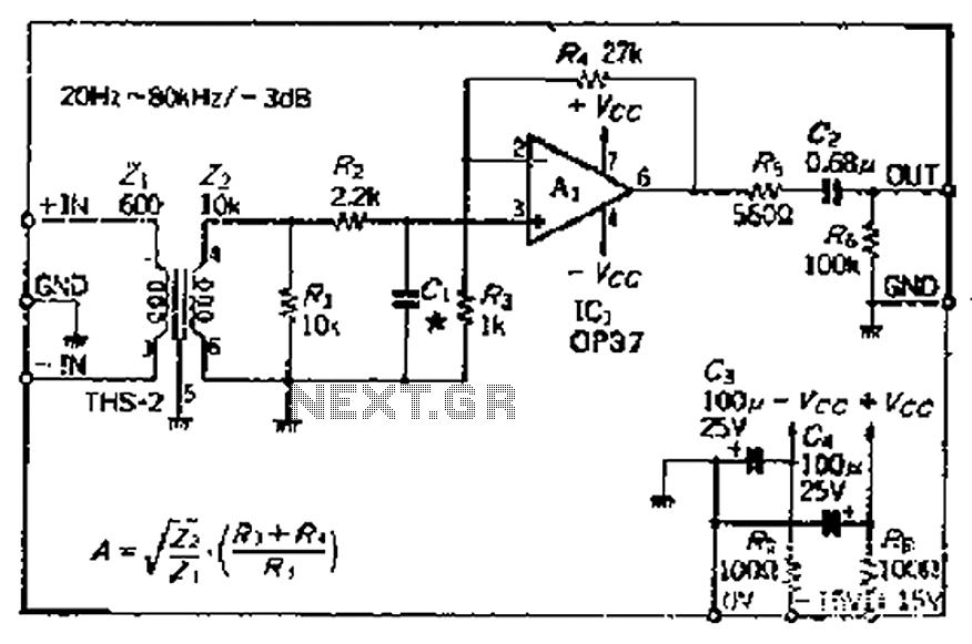 Surprising The Balanced Input Amplifier Circuit Diagram Of 600 Microphone Is As Wiring Cloud Faunaidewilluminateatxorg