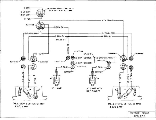 Zd 5694  Rear Light Wiring Color Codes The 1947 Present Chevrolet Gmc Download Diagram