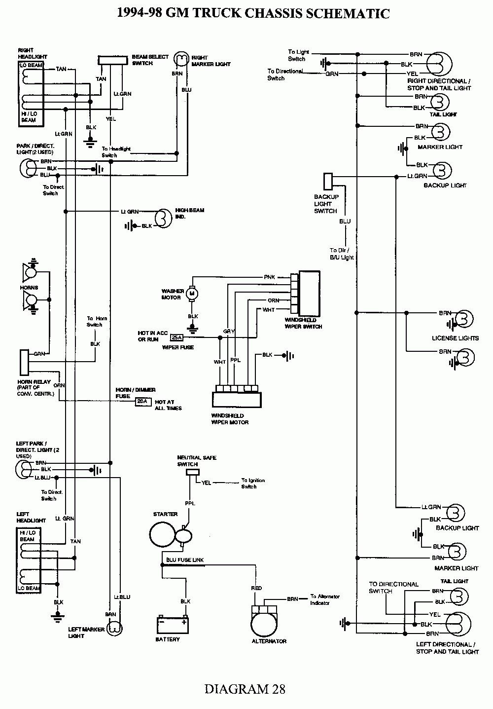 Gk 2418 1994 S10 Rear Wiper Motor Wiring Diagram 1995 Chevrolet S10 Ca Free Diagram