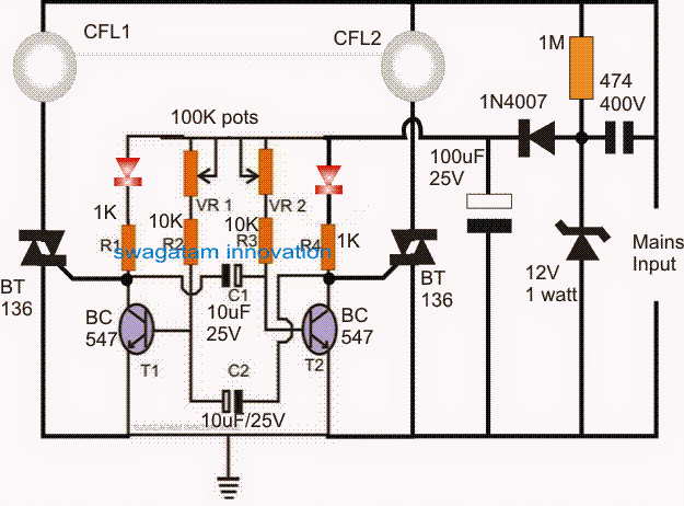 Prime 220V Dual Alternate Lamp Flasher Circuit Homemade Circuit Projects Wiring Cloud Histehirlexornumapkesianilluminateatxorg