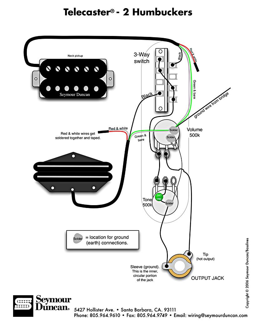 Swell Tele Wiring Diagram With 2 Humbuckers Telecaster Build Guitar Wiring Cloud Mousmenurrecoveryedborg