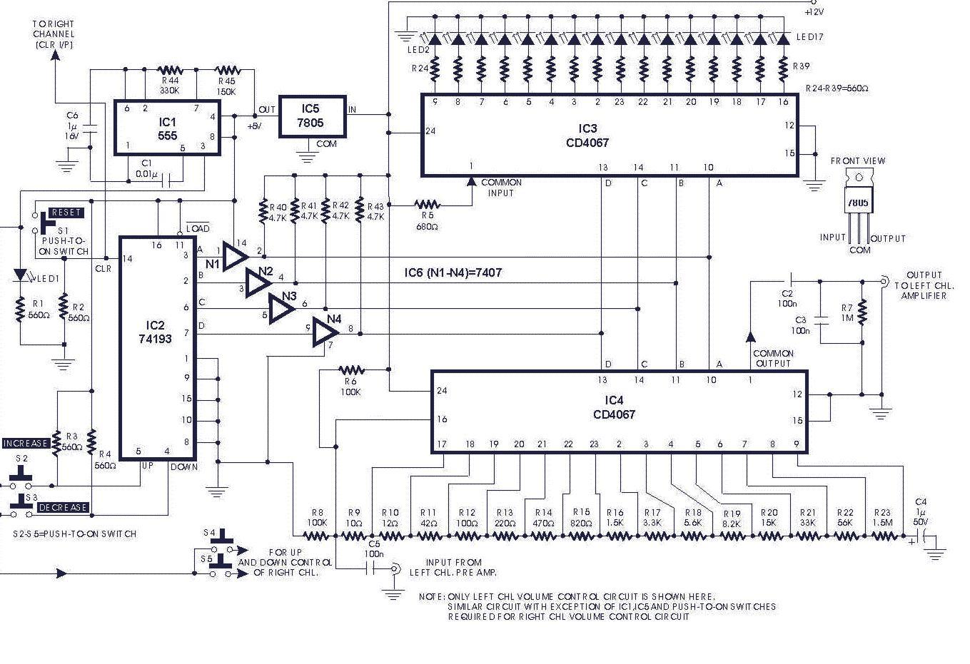 Stupendous Digital Volume Control Circuit Diagrams Wiring Cloud Icalpermsplehendilmohammedshrineorg