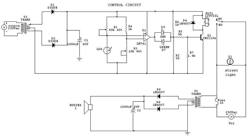 Outstanding Circuit Diagram For Automation Of Street Light Download Scientific Wiring Cloud Filiciilluminateatxorg