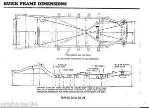 1971 Buick Electra 225  NOS Frame Dimensions Front Wheel Alignment Specs