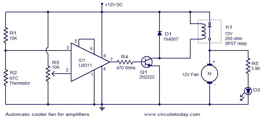 Outstanding Automatic Cooler Fan For Amplifiers Electronic Circuits And Wiring Cloud Domeilariaidewilluminateatxorg