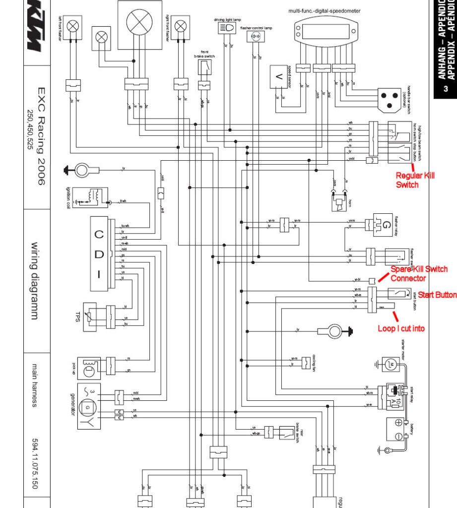 Yo 1430 Ktm Exc Wiring Diagram Wiring Harness Wiring Diagram