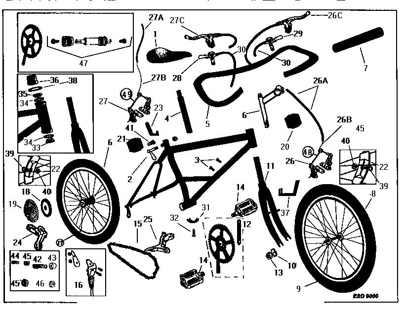 Amazing Roadmaster Model 3866Sr Bicycles Genuine Parts Wiring Cloud Onicaalyptbenolwigegmohammedshrineorg