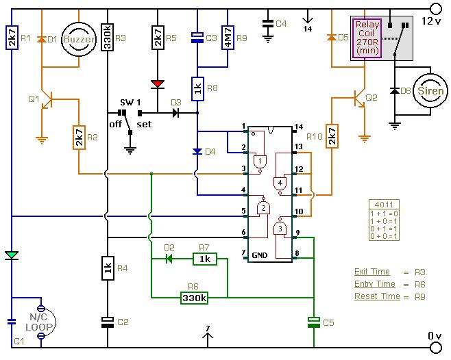 Awesome A Simpler Cmos Single Zone Alarm Basic Electronics Wiring Diagram Wiring Cloud Licukosporaidewilluminateatxorg