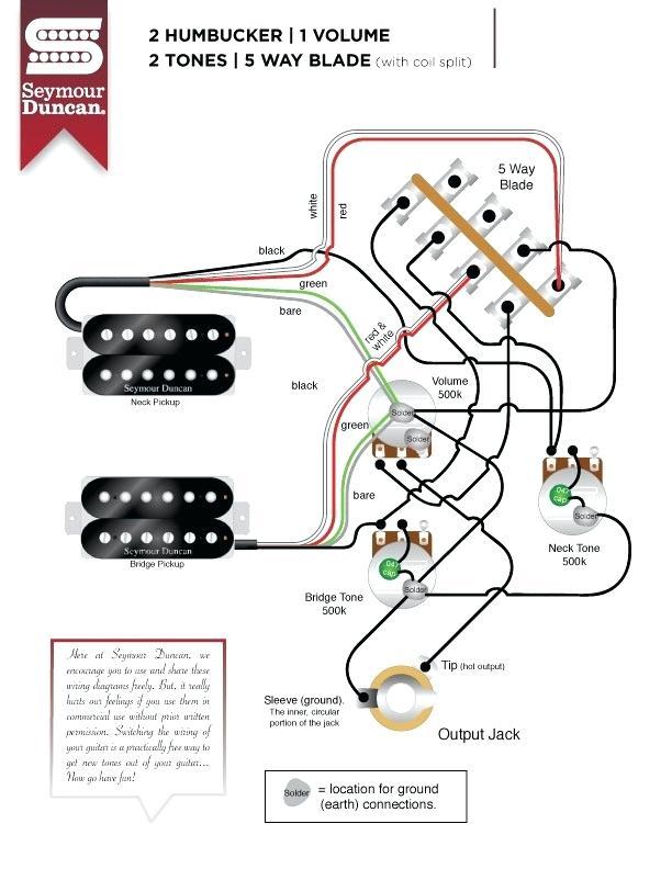 XK_5297] Wiring Diagram 2 Humbuckers 5Way Rotary Switch 1 Volume 1 Tone 05  Download Diagram | Guitar Wiring Diagrams 2 Humbuckers 5 Way Switch |  | Stap Egre Mohammedshrine Librar Wiring 101