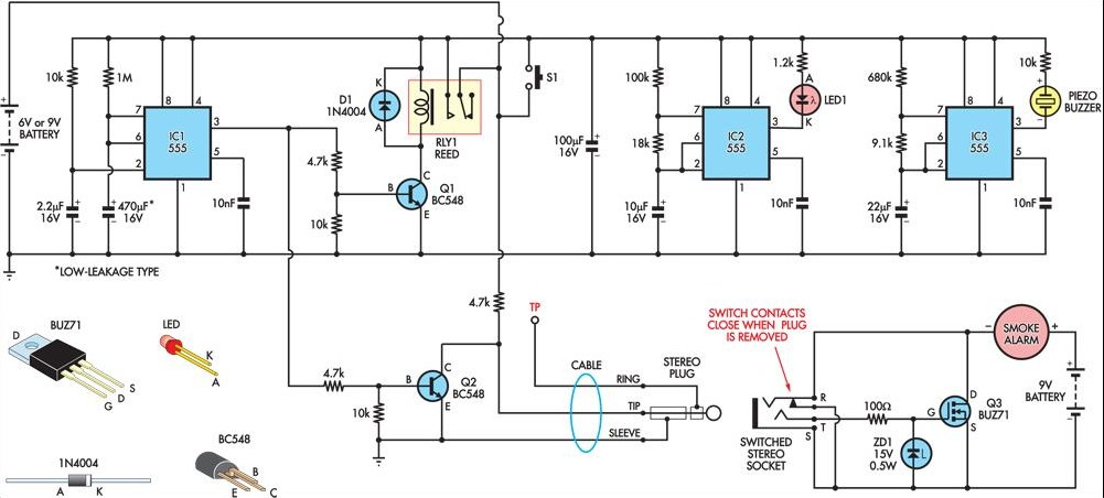 Amazing Temporarily Silencing A Smoke Detector Circuit Diagram Wiring Cloud Genionhyedimohammedshrineorg