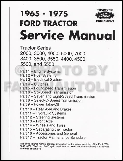 Incredible 1965 1975 Ford Tractor Repair Shop Manual 2000 3000 4000 5000 Wiring Cloud Hemtegremohammedshrineorg