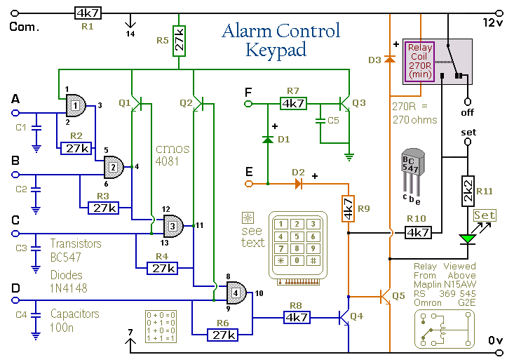 Miraculous How To Build A Simple Alarm Control Keypad Wiring Cloud Rineaidewilluminateatxorg