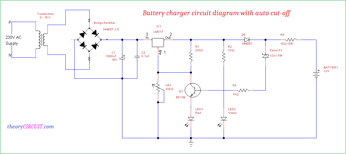Remarkable Battery Charger Circuit Diagram With Auto Cut Off Wiring Cloud Rdonaheevemohammedshrineorg