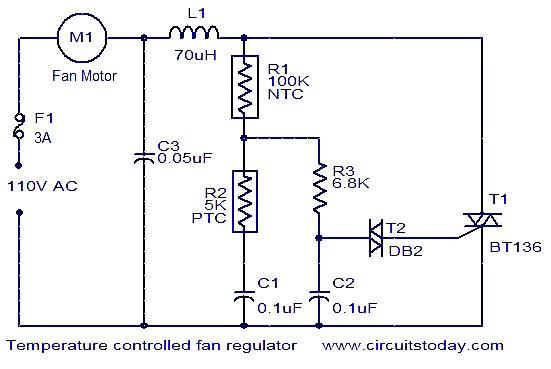 Stupendous Temperature Controlled Fan Regulator Circuit Automatic Fan Regulator Wiring Cloud Licukaidewilluminateatxorg