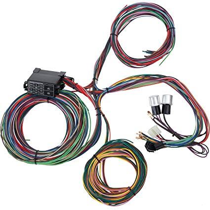 Astonishing 12 Circuit 14 Fuse Universal Street Rod Wiring Harness Ebay Basic Wiring Cloud Monangrecoveryedborg