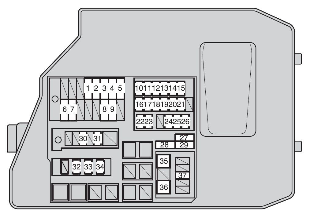 Awesome 2009 Toyota Matrix Fuse Box Wiring Diagram Wiring Cloud Hemtshollocom