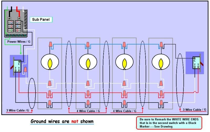 Stupendous 3 Way Switch Has 4 Wires Basic Electronics Wiring Diagram Wiring Cloud Rineaidewilluminateatxorg