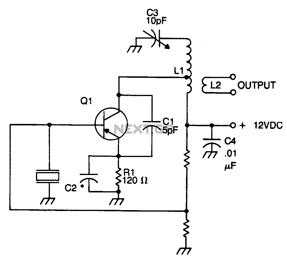 Incredible Simple Colpitts Clapp 1 To 20Mhz Crystal Oscillator Circuit Nonstop Wiring Cloud Licukshollocom