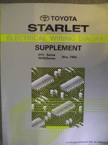 Groovy Details About Toyota Starlet Wiring Diagram Supplement 1994 Ewd207F Wiring Cloud Lukepaidewilluminateatxorg